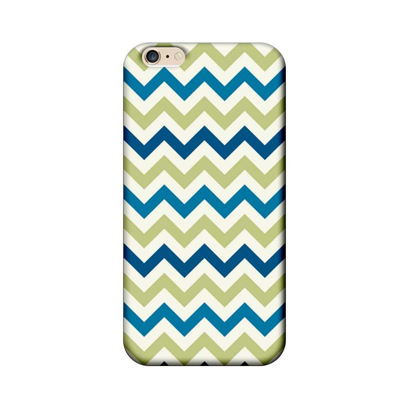 Apple iPhone 6 / 6s Mobile Cover Printed Designer Case Light Green Zigzag Stripes