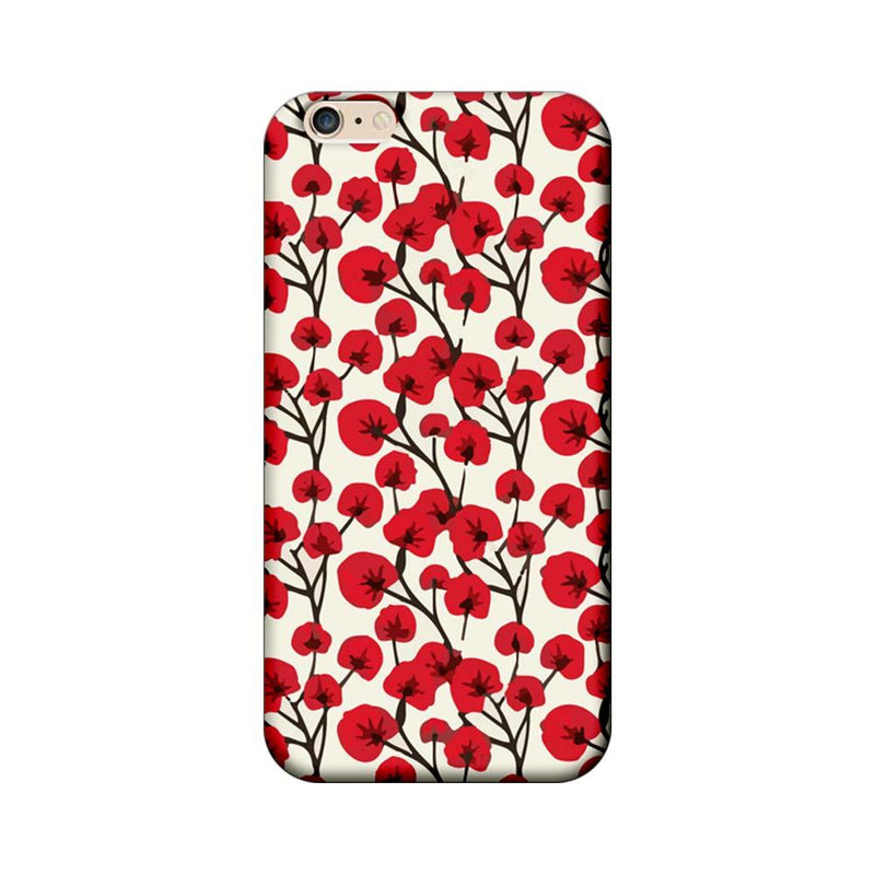 Apple iPhone 6 / 6s Mobile Cover Printed Designer Case Red Floral 2