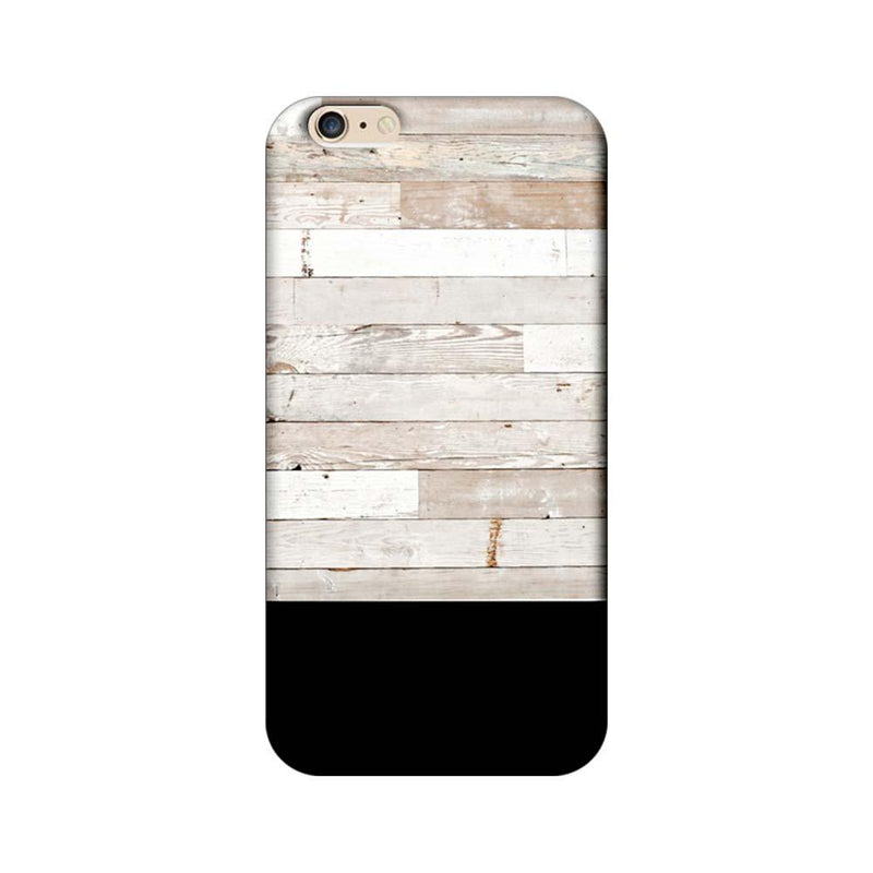 Apple iPhone 6 Plus / 6s Plus Mobile Cover Printed Designer Case Black and White Wood