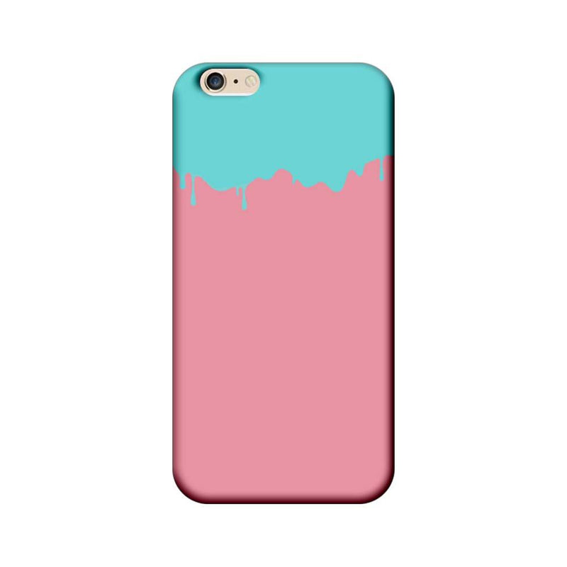 Apple iPhone 6 Plus / 6s Plus Mobile Cover Printed Designer Case Pink and Skyblue Brush Stroke