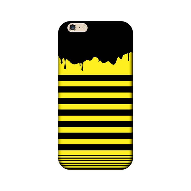 Apple iPhone 6 Plus / 6s Plus Mobile Cover Printed Designer Case Black and Yellow Brush Stroke