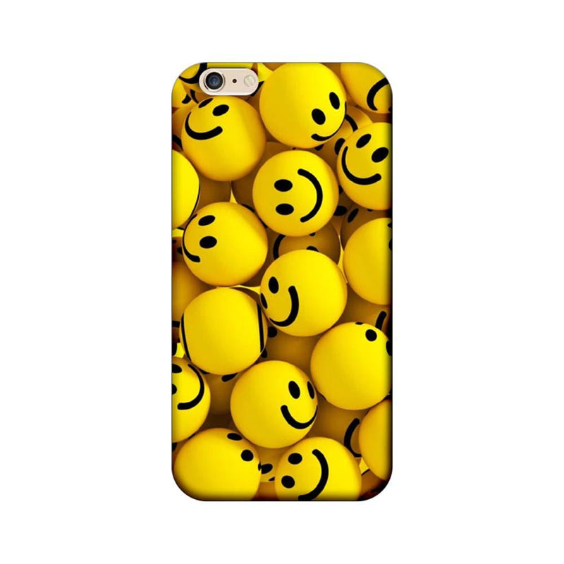 Apple iPhone 6 Plus / 6s Plus Mobile Cover Printed Designer Case Yellow Emoji