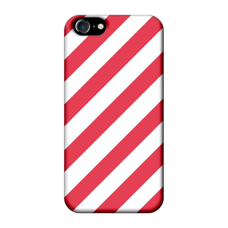 Apple iPhone 8 Mobile Cover Printed Designer Case Pink and White Stripes