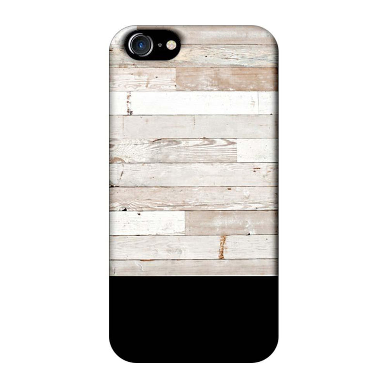 Apple iPhone 8 Mobile Cover Printed Designer Case Black and White Wood