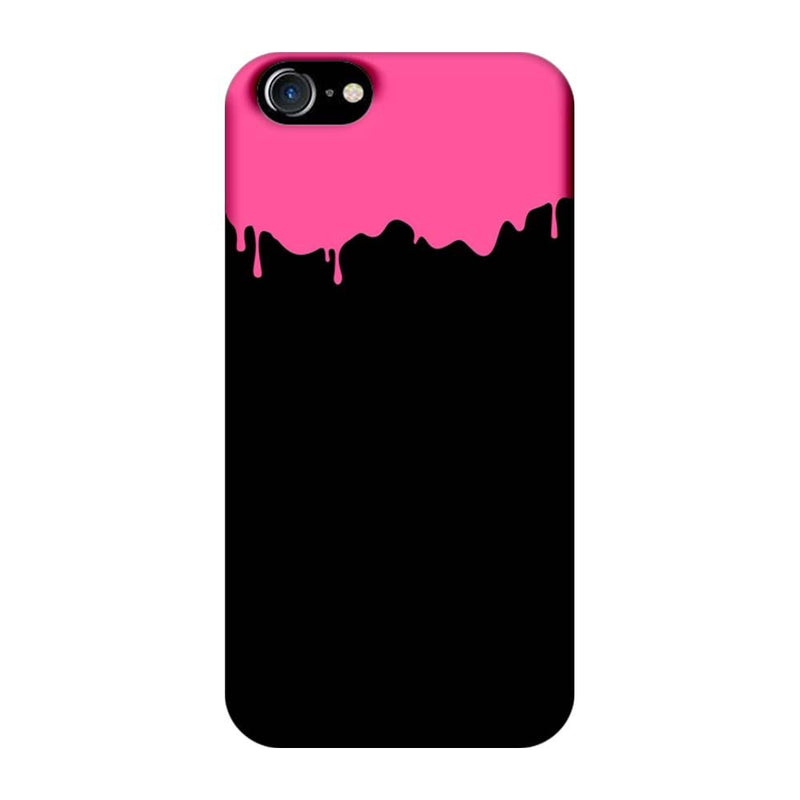 Apple iPhone 8 Mobile Cover Printed Designer Case Black and Pink Brush Stroke