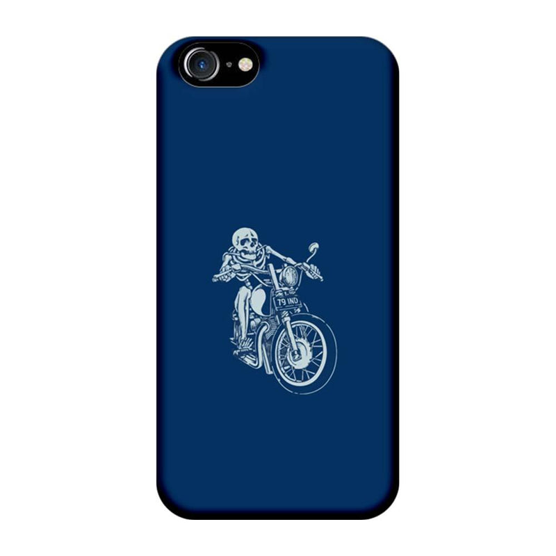 Apple iPhone 7 Mobile Cover Printed Designer Case Skeleton Bike Riding