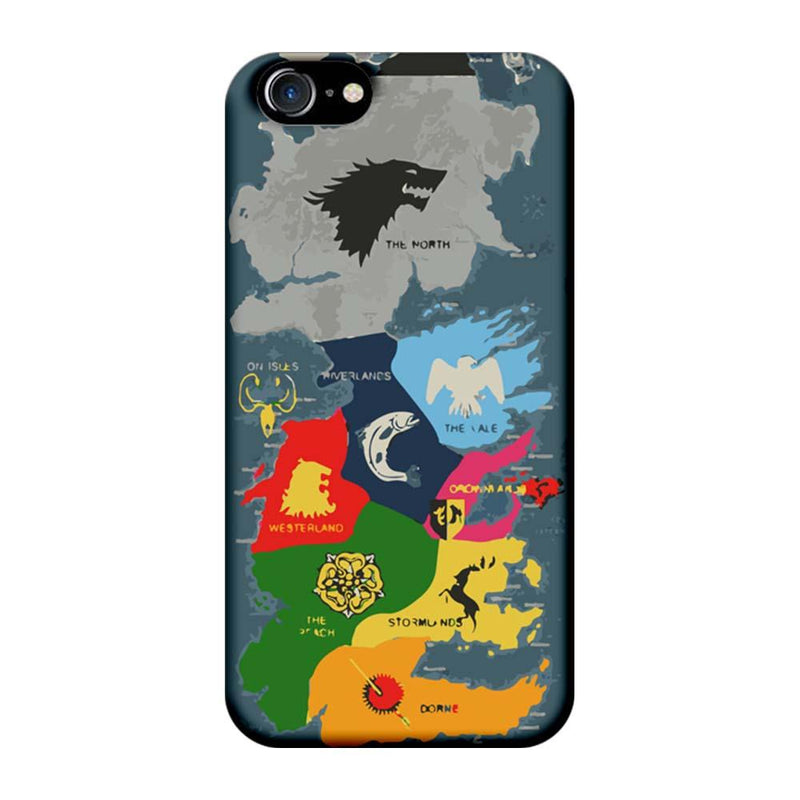 Apple iPhone 7 Mobile Cover Printed Designer Case Game of Throne Map