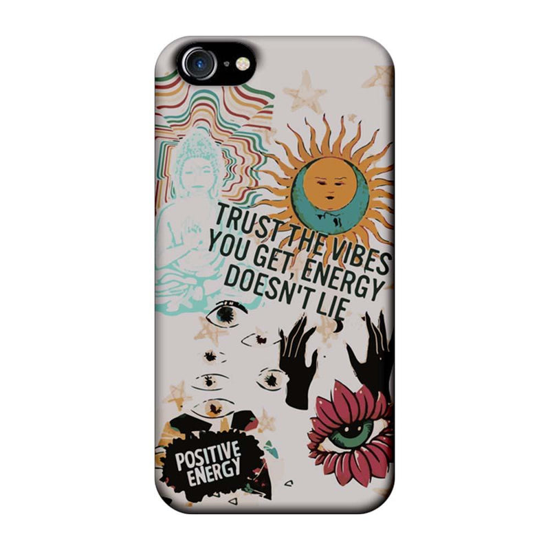Apple iPhone 8 Mobile Cover Printed Designer Case Positive Energy