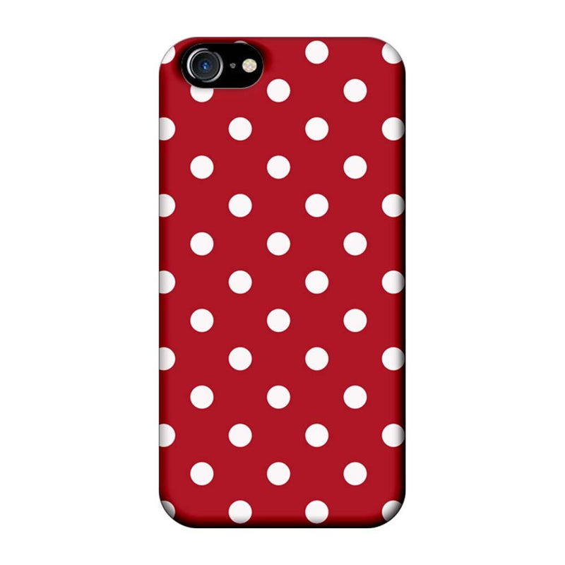 Apple iPhone 8 Mobile Cover Printed Designer Case Marron Polka Dots