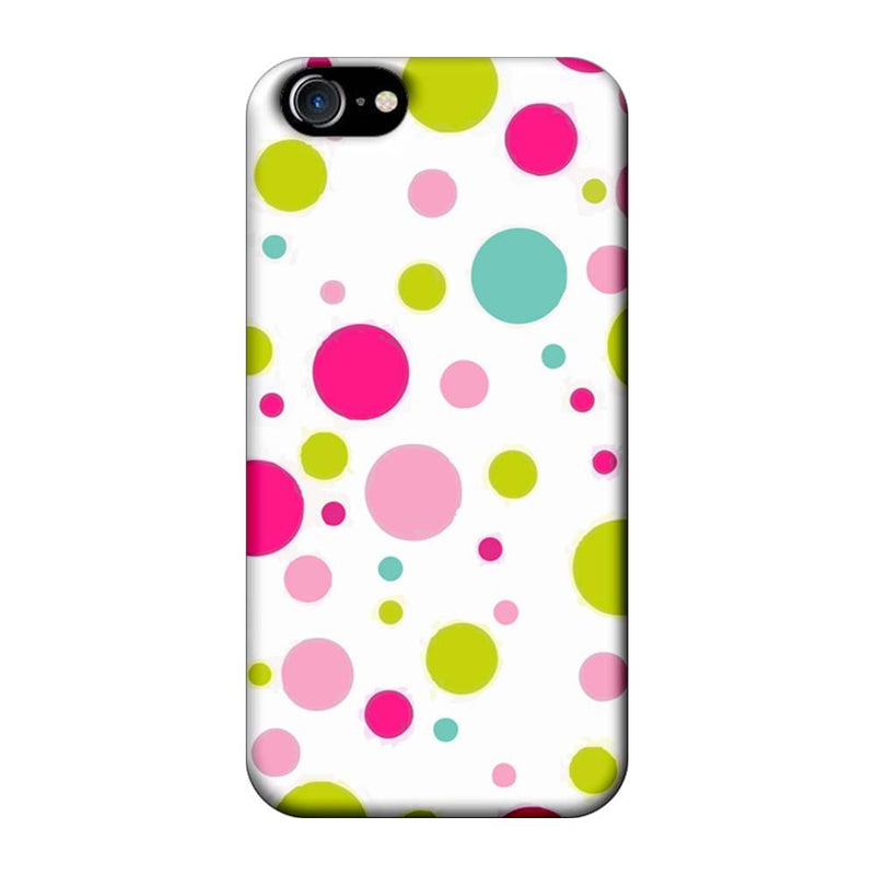 Apple iPhone 7 Mobile Cover Printed Designer Case Multi Colour Polka Dots