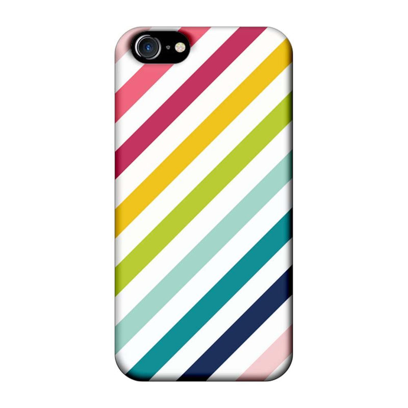Apple iPhone 8 Mobile Cover Printed Designer Case Multicolour Stripes