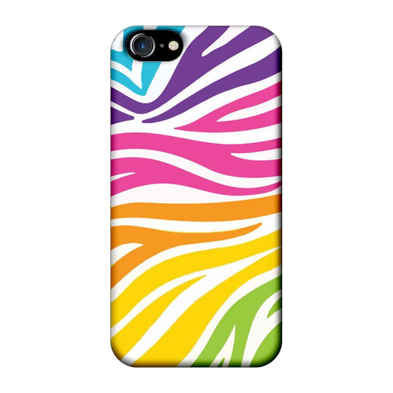Apple iPhone 7 Mobile Cover Printed Designer Case Multicolour Zebre Pattern