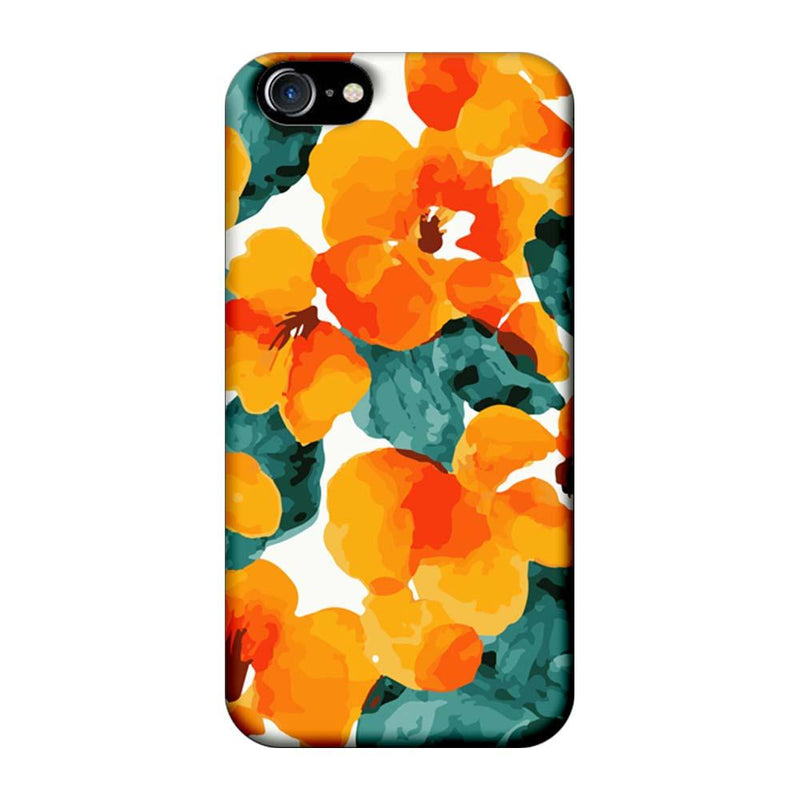 Apple iPhone 8 Mobile Cover Printed Designer Case Yellow Flower Artwork