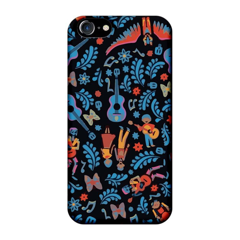 Apple iPhone 8 Mobile Cover Printed Designer Case Guitar Pattern