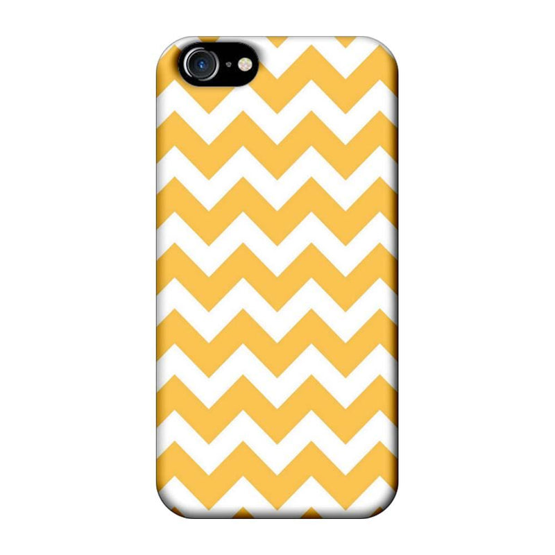 Apple iPhone 8 Mobile Cover Printed Designer Case Yellow Colour Stripes