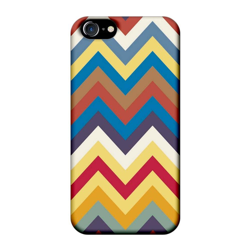 Apple iPhone 8 Mobile Cover Printed Designer Case Multi Colour Zigzag