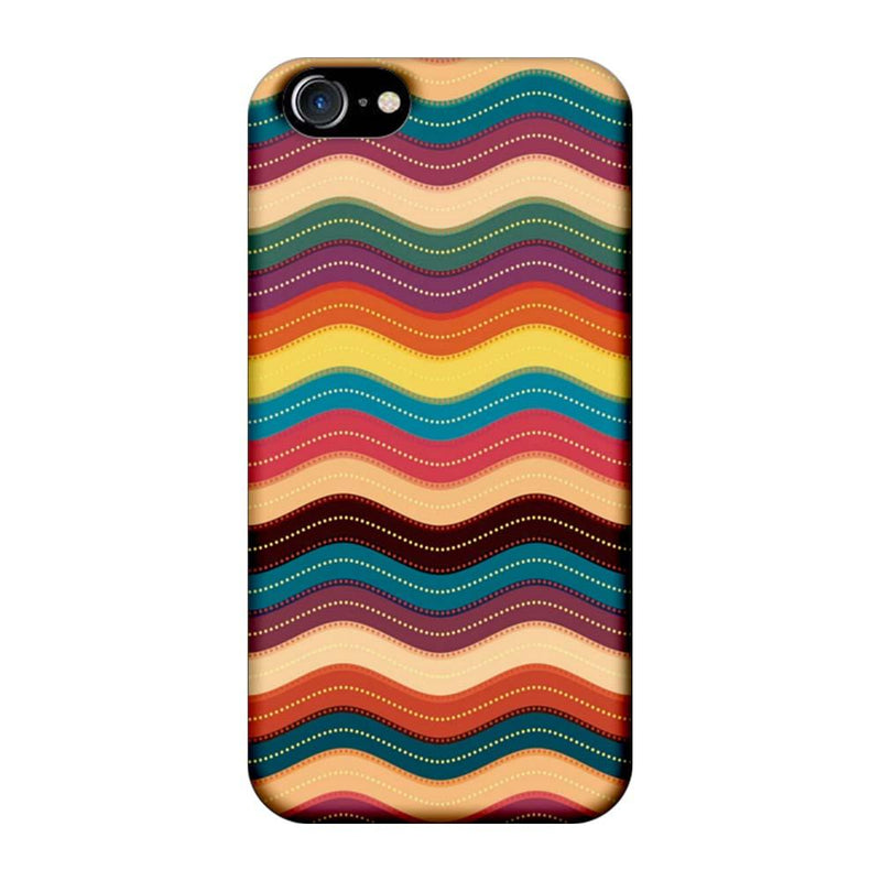 Apple iPhone 7 Mobile Cover Printed Designer Case Multi Colour Waves