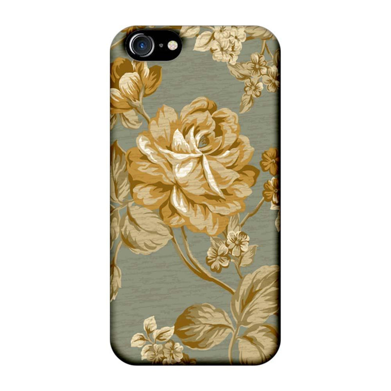 Apple iPhone 8 Mobile Cover Printed Designer Case Browish Rose Pattern