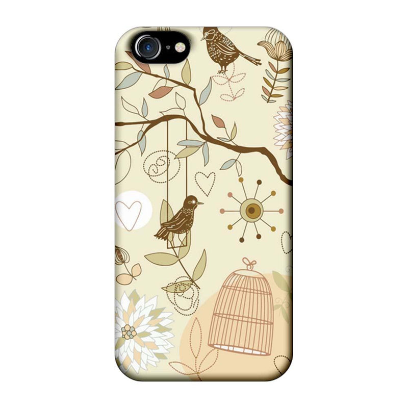 Apple iPhone 8 Mobile Cover Printed Designer Case Bird illustrator
