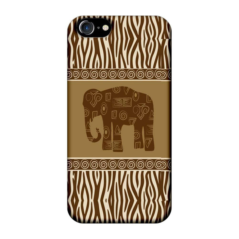 Apple iPhone 8 Mobile Cover Printed Designer Case Indian Art Elephant