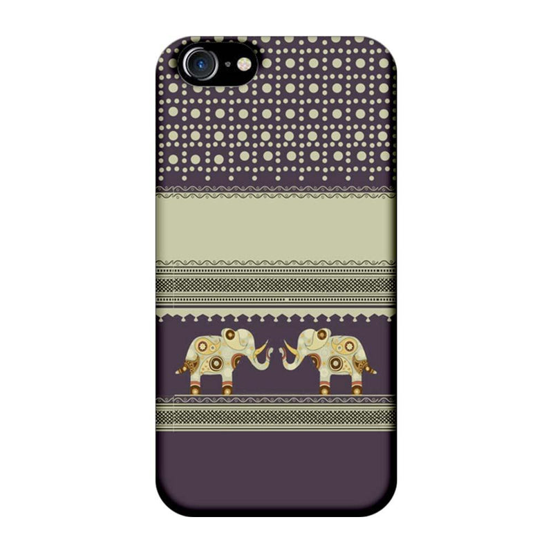 Apple iPhone 7 Mobile Cover Printed Designer Case Elephants Indian Art