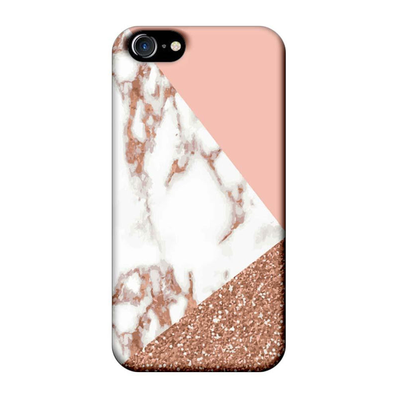 Apple iPhone 7 Mobile Cover Printed Designer Case Marble White ZigZag