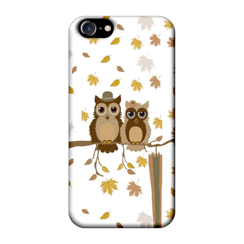 Apple iPhone 8 Mobile Cover Printed Designer Case Owls