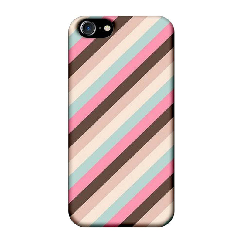 Apple iPhone 8 Mobile Cover Printed Designer Case Multi Stripe