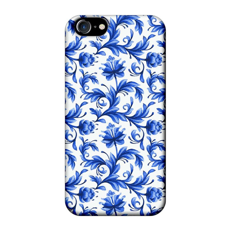 Apple iPhone 7 Mobile Cover Printed Designer Case Blue Floral 2