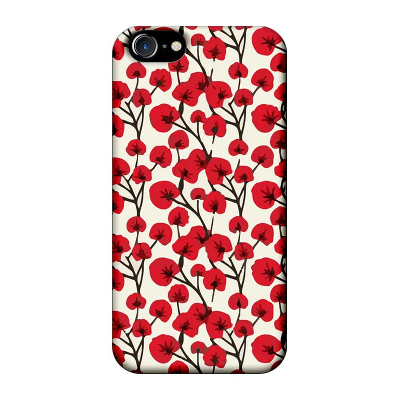 Apple iPhone 7 Mobile Cover Printed Designer Case Red Floral 2