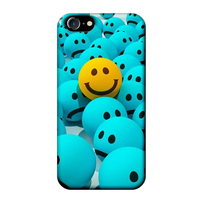 Apple iPhone 7 Mobile Cover Printed Designer Case Sky Blue Emoji