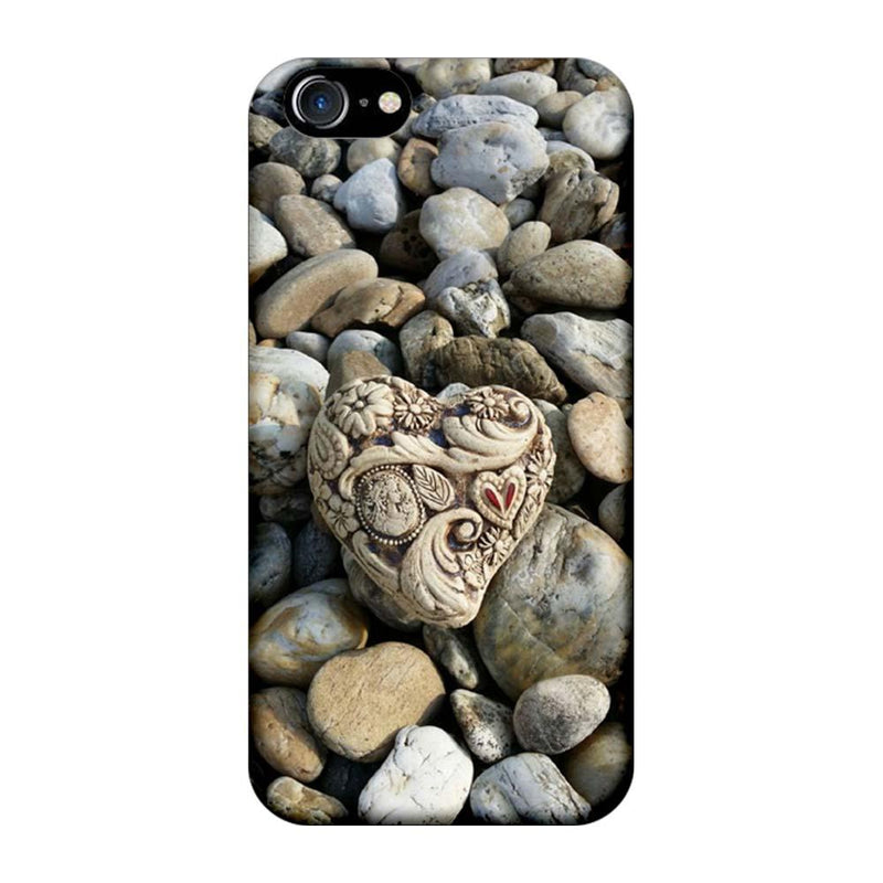 Apple iPhone 8 Mobile Cover Printed Designer Case Heart Stone