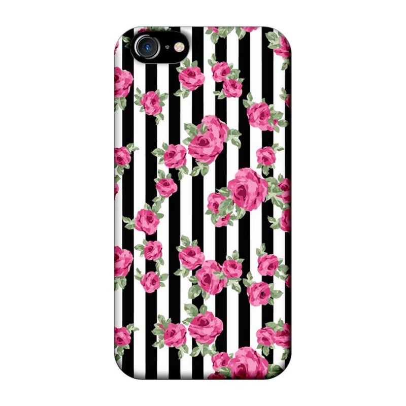 Apple iPhone 7 Mobile Cover Printed Designer Case Floral Stripe Pattern