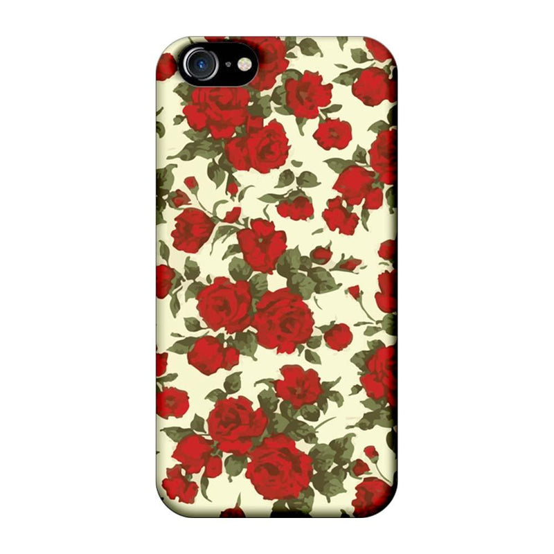 Apple iPhone 8 Mobile Cover Printed Designer Case Red Roses