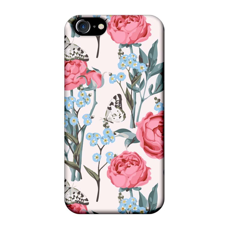 Apple iPhone 8 Mobile Cover Printed Designer Case Pink Roses