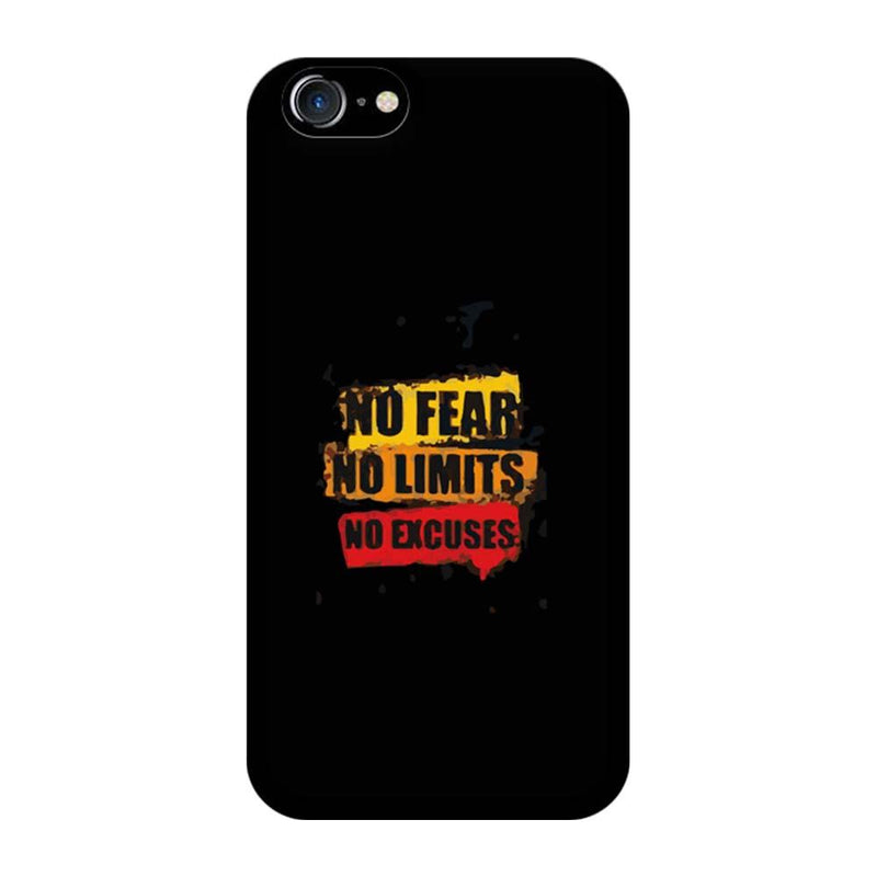 Apple iPhone 8 Mobile Cover Printed Designer Case No Fear No Limits
