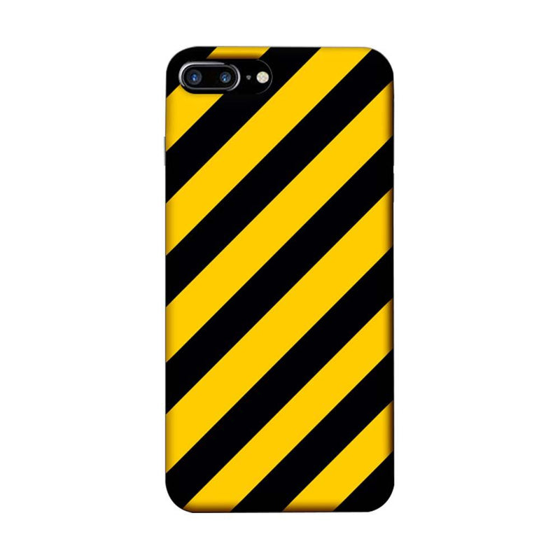Apple iPhone 8 Plus Mobile Cover Printed Designer Case Yellow and Black Stripes