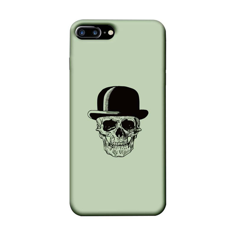 Apple iPhone 8 Plus Mobile Cover Printed Designer Case Skull head with Hat