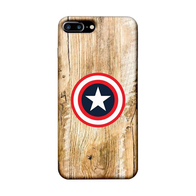 Apple iPhone 8 Plus Mobile Cover Printed Designer Case Captain America Sheild