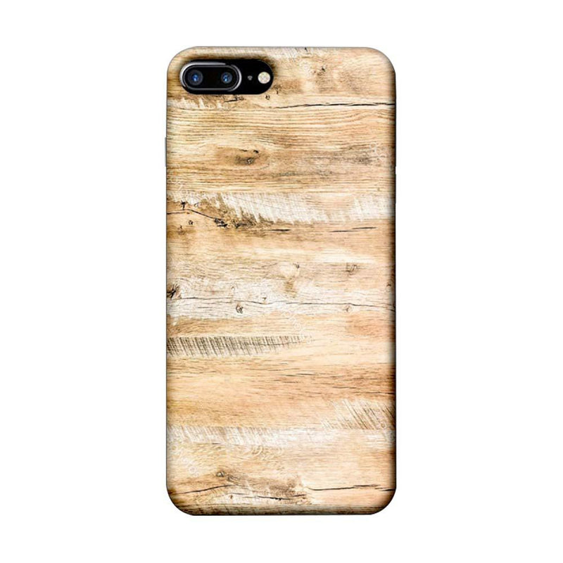 Apple iPhone 8 Plus Mobile Cover Printed Designer Case Light Brown Wood