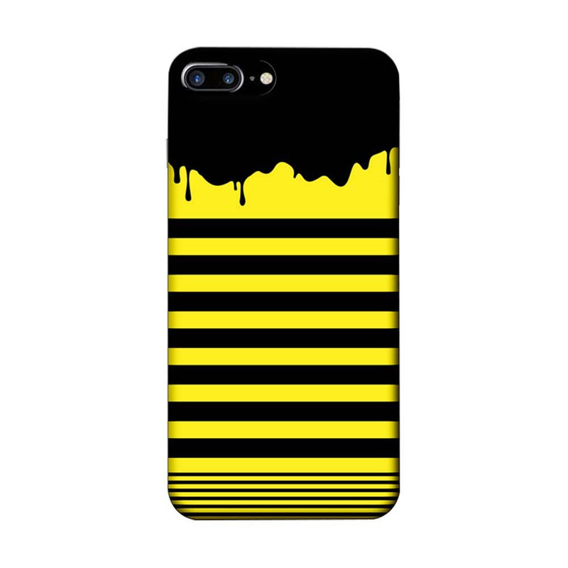 Apple iPhone 8 Plus Mobile Cover Printed Designer Case Black and Yellow Brush Stroke