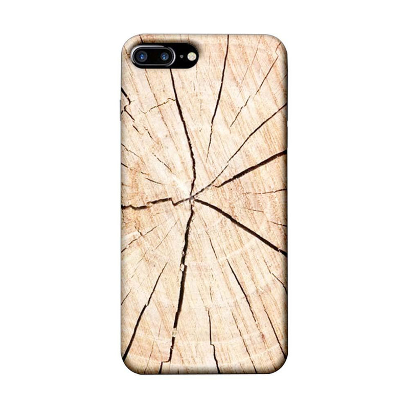 Apple iPhone 7 Plus Mobile Cover Printed Designer Case Crack Wood