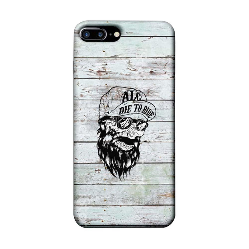 Apple iPhone 7 Plus Mobile Cover Printed Designer Case Beard Skeleton
