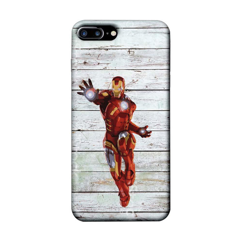 Apple iPhone 8 Plus Mobile Cover Printed Designer Case Wood Ironman