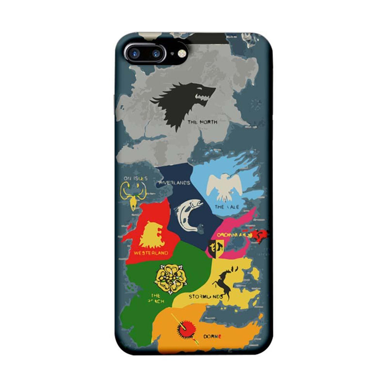 Apple iPhone 7 Plus Mobile Cover Printed Designer Case Game of Throne Map