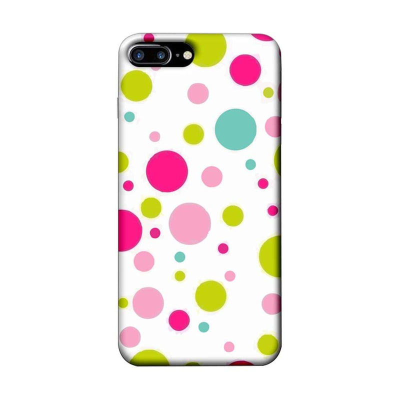 Apple iPhone 7 Plus Mobile Cover Printed Designer Case Multi Colour Polka Dots