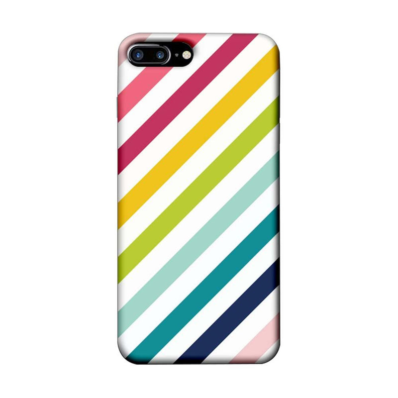 Apple iPhone 7 Plus Mobile Cover Printed Designer Case Multicolour Stripes