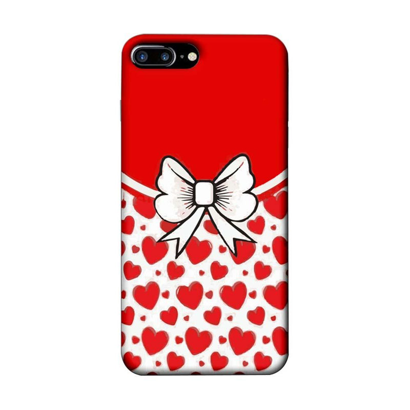 Apple iPhone 8 Plus Mobile Cover Printed Designer Case Red Hearts