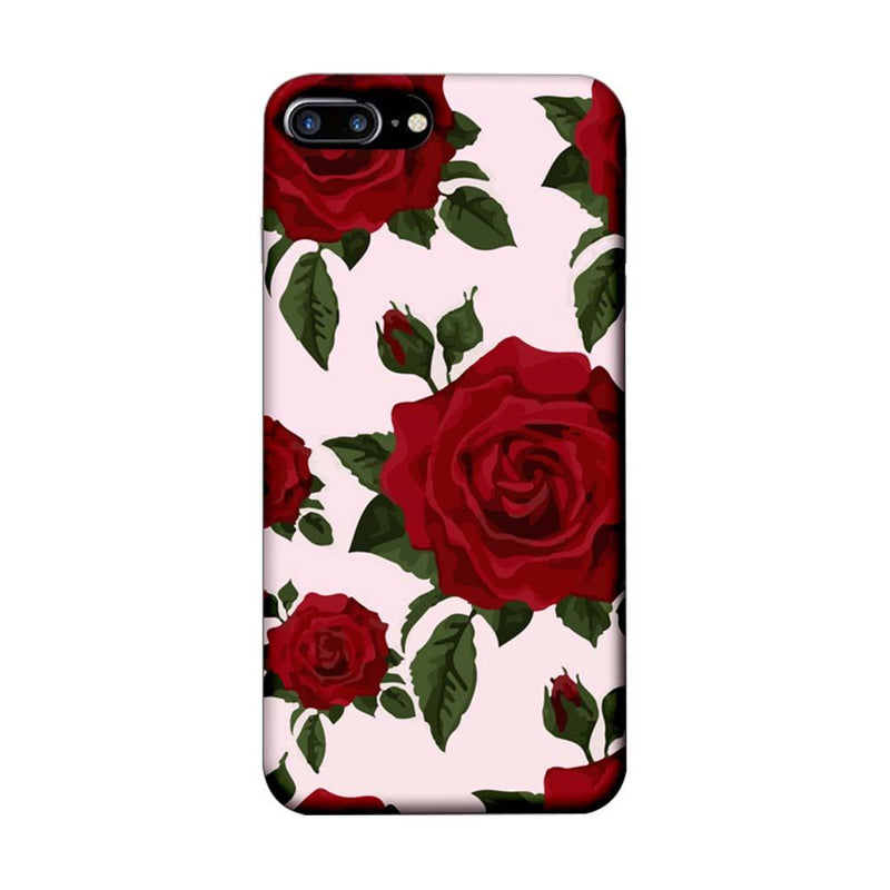 Apple iPhone 7 Plus Mobile Cover Printed Designer Case Red Rose