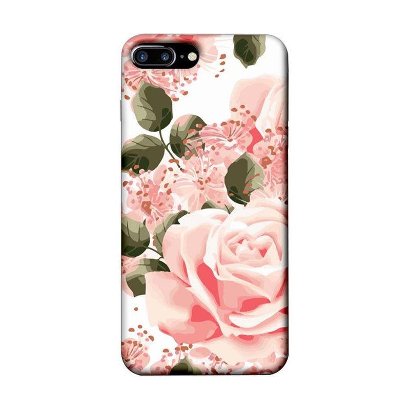 Apple iPhone 8 Plus Mobile Cover Printed Designer Case Pink Rose